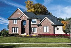 Brampton Brick's Mediterranean Series combines blends of tranquil blues and golds into a sunset inspired line of clay bricks for any home or business. Aka House, Local Contractors, Brick Block, Brickwork, Exterior, Cabin, Brick Homes, House Styles, Clay