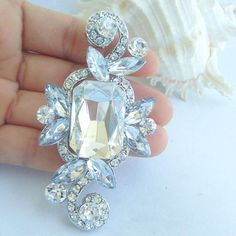 Wedding AccessoriesBridal Rhinestone Brooch by VanessaJewel 2845965c30bf