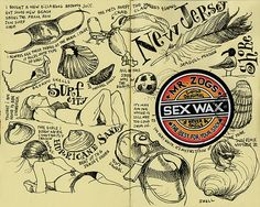 Tommy Kane's Art Blog  [ I have my vanilla 'sex wax' on my night stand. No more surfing but I love the smell ]