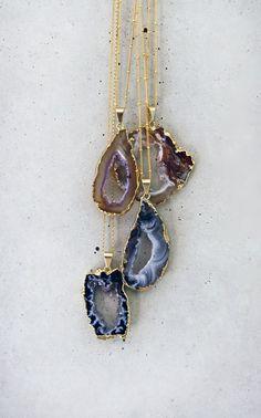 AGATE geode druzy necklace by keijewelry