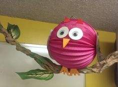 Weird Animals VBS Owl Paper Lantern should be easy. We should have wiggle eyes left over. Paper Lantern Owl, Lantern Crafts, Paper Lanterns, Vbs Crafts, Church Crafts, Bible Crafts, Crafts For Kids, Owl Classroom, Classroom Decor