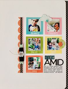 clean and graphic. #scrapbooking #layout