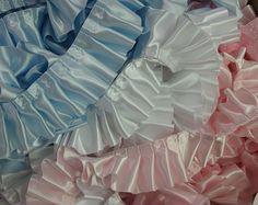 "Pleated+Satin+Ribbon+Trim,+2""+Polyester,+Blue,++Pink"