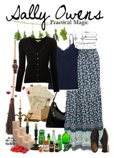 Practical Magic: Sally Owens by jess-nichole on Polyvore featuring Michael Kors, M&Co, Aéropostale, Gap, Shinola, Carolina Glamour Collection, Henri Bendel, Frontgate, Relique and Paddywax