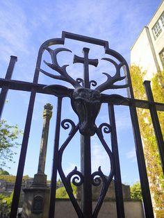 Part of a fence detail on the High Street, Edinburgh. Door Detail, Iron Art, Blacksmithing, Architecture Details, Art Forms, Wrought Iron, Edinburgh, Gates, Filigree