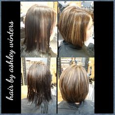 #redken #rootshairdesign #hairbyashleywinters #bob #modernsalon #btc @roots_hair_design