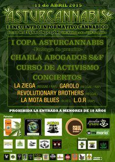El 11 de Abril de 2015 dará lugar en Asturias la primera copa cannábica, así que te traigo información sobre el evento Asturcannabis que te encantará seguro