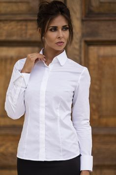 Classic cocktail white shirt : Kate