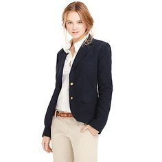 Tommy Hilfiger women's blazer. Our iconic moleskin blazer is noted for its softness and durability (it feels almost like velvet). Perfect for the winter months--trimly tailored for her. • Slim fit. Body: 100% cotton. Lining: 100% synthetic.• Functional button cuffs, princess seams, lined.• Machine washable.• Imported.