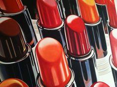 Lipsticks detail by James Rosenquist from House of Fire 1981 Pop Art, Close Up Art, James Rosenquist, Mid Century Art, Gcse Art, Cultura Pop, Art Object, Beauty Art, Art Techniques