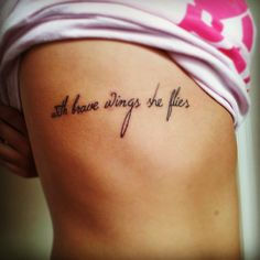 """""""With brave wings she flies"""""""