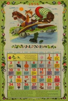The Golden Calendar - 1956  Illustrated by Richard Scarry