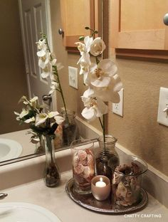 Dollar Tree bathroom display idea.