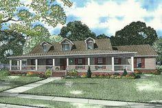 Farmhouse Exterior - Front Elevation Plan #17-415 - Houseplans.com