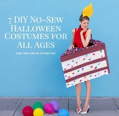 Shrimp Salad Circus: 7 DIY No-Sew Halloween Costumes for All Ages - Like this birthday cake from @StudioDIY