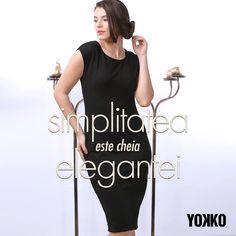 ♡Rochii feminine din jerse elastic gros #dress #black #simple #elegant #winter