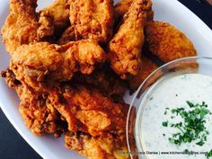 The Kitchenista Diaries: Mina's Green Harissa Chicken Wings with Preserved Lemon Dip