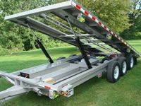 Shed Trailers By Creekside Welding Truck Bed Trailer, Tilt Trailer, Work Trailer, Trailer Plans, Trailer Build, Trailer Hitch, Quad Trailer, Atv Trailers, Equipment Trailers
