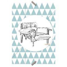 """Poster Cadeira """"Poltrona Mole"""" - Coleção Mercatto Casa e Apto 41"""