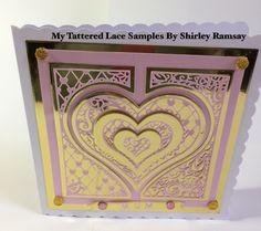 Heart Cards, Tatting, Paisley, Valentines Day, Anniversary, Romance, Tags, Diamond, Frame