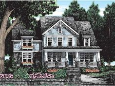 Eplans Craftsman House Plan - A Wealth of Windows - 2631 Square Feet and 5 Bedrooms from Eplans - House Plan Code I would push the kitchen back toward the breakfast area. Best House Plans, Dream House Plans, House Floor Plans, Craftsman Style House Plans, Craftsman Homes, Craftsman Exterior, Farmhouse Plans, Farmhouse Style, Build Your Dream Home