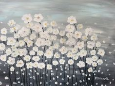 Canvas Painting Ideas For Beginners | Easy Flower Canvas Painting Ideas Original acrylic painting on