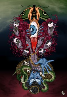 Kali is the first and foremost among Mahavidya's. According to yogini tantra, Devi Parvati assumed this form to slay a demon called Ghorasura. Seeing this form, Lord shiva requested kali to enlighten him by placing a foot on his chest. Devi then Kali Tattoo, Shiva Tattoo Design, Kali Hindu, Hindu Art, Yoga Cartoon, Kali Goddess, Indian Goddess, Durga Images, Kali Ma