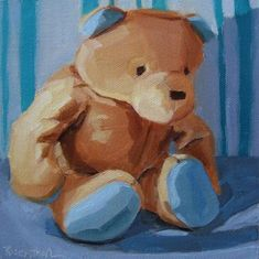 "Daily Paintworks - ""Babys Bear"" - Original Fine Art for Sale - © Robin Rosenthal"