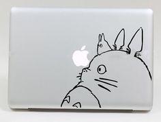 Totoro macbook decal macbook pro 13 decals skin stickers vinyl sticker macbook air 11 decal cover laptop decal apple sticker---8