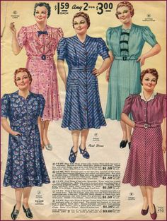 Plus Size Fashion Dresses in the 1940s