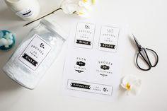 Etykietki do pralni — do druku | naklejki na proszek do prania i inne płyny | etykietki i naklejki do łazienki | dekoracje do łazienki do wydruku za darmo