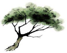페인터오브젝트, 프리진, 일러스트, 나무, 동양화, 소나무, 솔나무, 식물, 오브젝트, 일러스트, 일러스트레이션, 트리, 플랜트, 한국, 한국화,#유토이미지