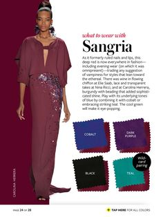Instyle What to Wear - Sangria