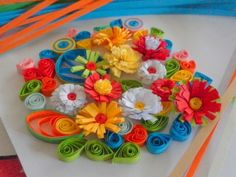 Paper Quilling - How to Make Fringed Flowers for Quilled Designs and Projects By lady rain