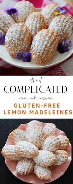 Gluten-Free Lemon Madeleines – It's Not Complicated Recipes Best Gluten Free Flour Tortilla Gluten Free Lemon Cupcakes with Lemonade Icing Cookies Sans Gluten, Dessert Sans Gluten, Gluten Free Sweets, Gluten Free Cakes, Gluten Free Cooking, Lemon Dessert Recipes, Köstliche Desserts, Sweet Recipes, Gf Recipes