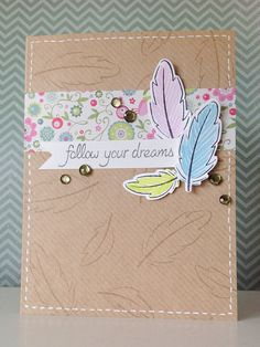 Lawn Fawn - Dream + coordinating dies, Cruising Through Life _ Beautiful card by Fiona via Flickr - Photo Sharing!