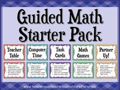 Guided Math Workshop Starter Pack - posters, planning sheets, instructions and ideas for implementing math workshop with guided math groups in your classroom
