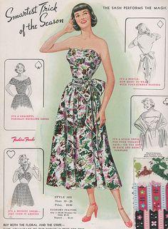 Fashion Frocks 1949 #dress #fashion #vintage #retro #1940s