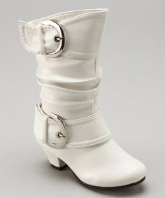 This White Auto Boot by Lucky Top is perfect! #zulilyfinds