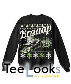 Braap Ugly Christmas Sweatshirt #tshirt #tanktop #hoodie #sweatshirt #quote #trending #bestselling #topselling #nerd #hobby #geek #meme #humor #funny #cool #lifestyle #text #christmas #braap
