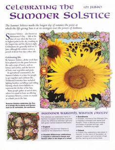 Summer Solstice: Celebrating the #Summer #Solstice. / Book of Shadows