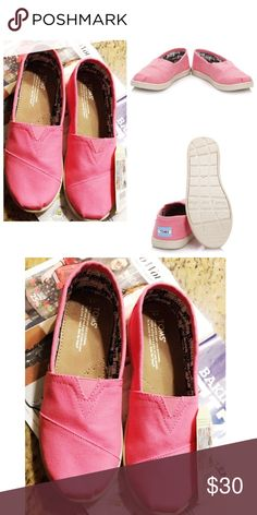 BUBBLE GUM PINK CANVAS YOUTH SIZE 6 Brand New💞 TOMS Shoes
