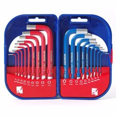 WORKPRO Hex Key Set Short Arm with Plastic Box Chrome-vanadium steel, hardened and tempered 9 Piece Storage case included Allen Wrench Set, Modern Tools, Driver Tool, Hex Key, Font Setting, Tool Set, Multifunctional, Hand Tools, Steel