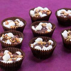 Cupcake Recipes : Chocolate Rocky Road Cupcake Bites, Gluten Free