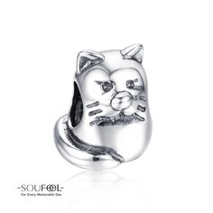 Soufeel Cat Charm 925 Sterling Silver Shop->http://www.soufeel.com/cat-charm-925-sterling-silver-fit-all-brands.html