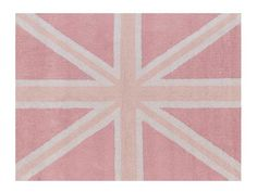 Alfombra Lorena Canals Flag England Baby Rosa