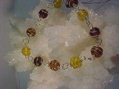 Spiral wire wrapped bracelet