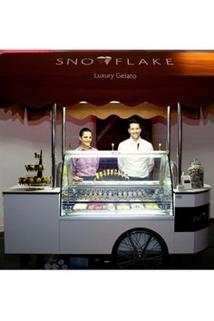 Gelato wedding cart