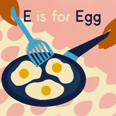 E is for Egg illustration print by naomiwilkinson on Etsy