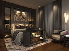Katz: Luxury Interior Design Projects Like You've Never Seen Before – Inspirations - Schlafzimmer Luxury Bedroom Design, Luxury Decor, Master Bedroom Design, Luxury Interior Design, Home Interior, Home Bedroom, Modern Bedroom, Bedroom Decor, Master Suite